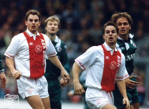 Frank De Boer with his brother, Ronald