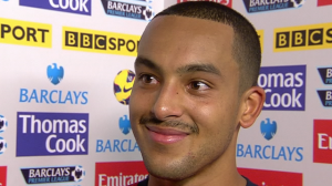 Theo tries to grow a 'tache