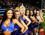 Crystal Palace's cheerleaders, The Crystals have had little to cheer for this season (Image from Getty)