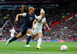 US forward Alex Morgan in full flow at this years Olympics