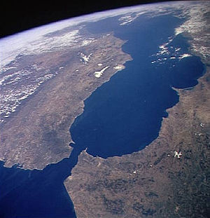 The Strait of Gibraltar from space (Image: Nasa)