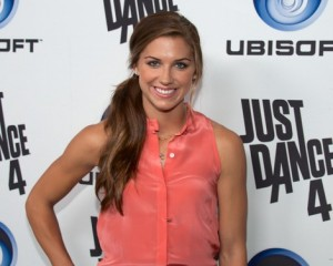 Alex Morgan at the launch of Just Dance 4