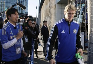 Torres arrives in Japan for the tournament