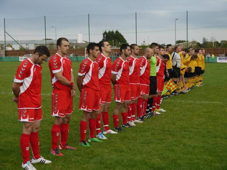 Gibraltar Football Team in a friendly