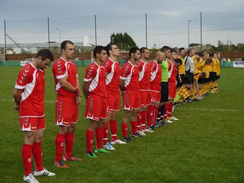 Gibraltar Football Team in a friendly