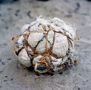 Home made football's are normal across poorer countries
