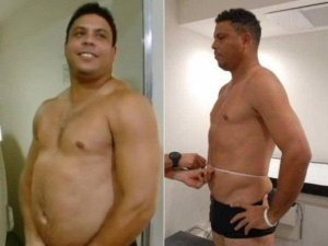 Ronaldo lost the weight over 3 months