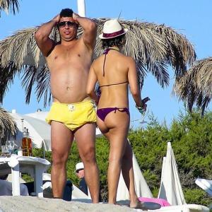 Ronaldo caught on the beach by a photographer