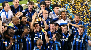 Inter and Benetiz celebrate Cup victory