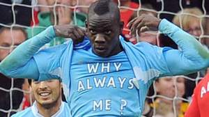 Always the victim - Balotelli shows his feelings in a match (Image by Reuters)
