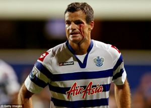 Nelsen gives his all for QPR (Image from Getty)