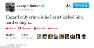 Oh Joey! Another classic tweet from Joey(Tweet from Joey Barton)