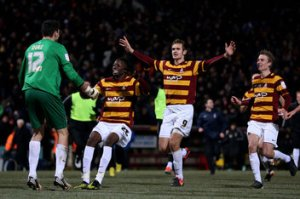 Bradford's fairytale to the final (Image from Clive Brunskill/Getty)