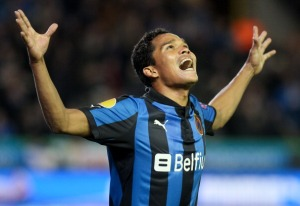 Carlos Bacca of Club Brugge (Image from Virginie Lefour/EuroFootball/Getty Images)