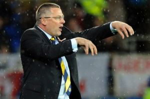 Puppet on a string: Levein's tinkering cost him his job (Image from Daily Record)