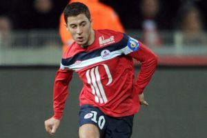 Hazard started out at Lille (Image from AP)