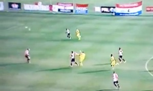 Carlos Bacca spin and volley for Club Brugge (Image taken from Video)