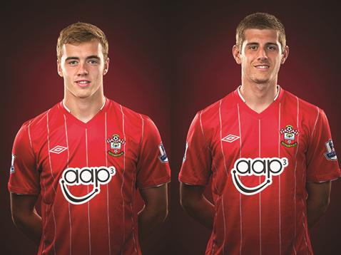 The future: Jack Stephens and Calum Chalbers (Image from Saintsfc.co.uk)