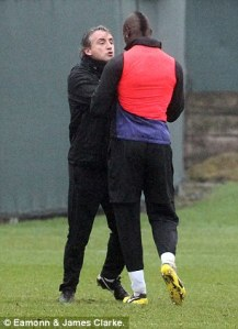 Mancini and Balotelli lock horns (Image by Eamonn and James Clarke)