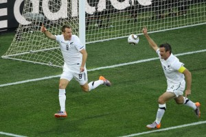 New Zealand celebrate scoring against Italy at the World Cup (Image from Zimbo.com)