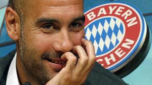 Pep Guardiola signs on in Germany (Image from Eurosport.se)