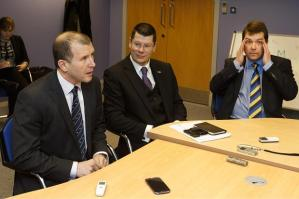 SPL and SFA representatives meet to reveal the new league setup (Image from The Sun.co.uk)