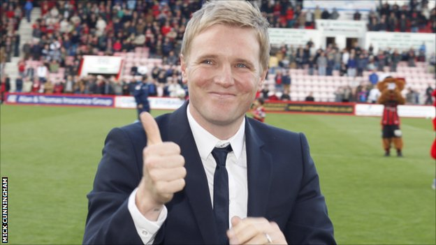 Next United Boss? Eddie Howe (Image from BBC)