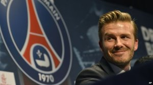 Beckham signs for PSG (Image from Getty)