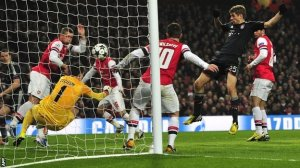 Misery at home for Arsenal against Bayern (Image from AFP)