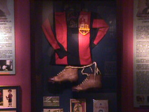 Paulino Alcantara shirt hangs in the Nou Camp (Image form Barca.com