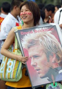 Opening the door to Asia via Beckham (Image from Getty)