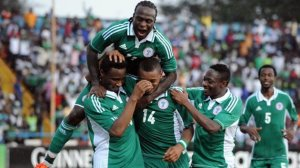 Nigeria celebrate during AFCON (Image from Eurosport.com)