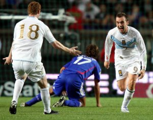 McFadden scores a wonder goal against France (Image from PA)