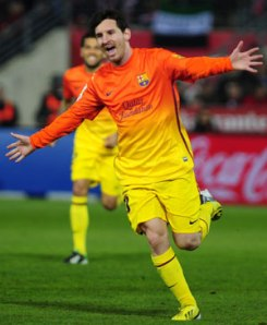 Messi scores his 300th goal (Image from Getty)