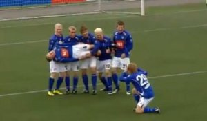 Something fishy with this goal celebration in Iceland (Image from TheSun)