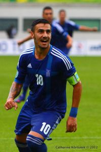 Katidis playing for Greece Under 21 (Image from Getty)