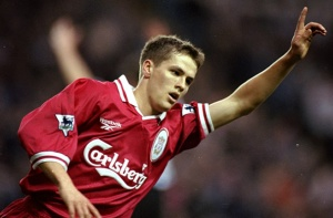 Owen marks his Liverpool debut with a goal (Image from Getty)