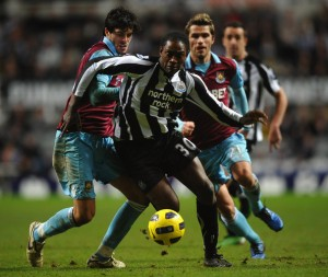 Ranger in action for Newcastle (image from AP)