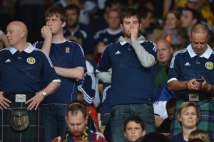 The Tartan Army ponders another failed campaign (Image from Getty)