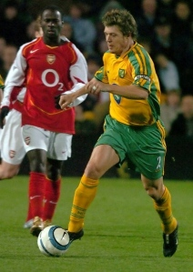 Danish International Thomas Helveg was unable to keep Norwich in the Premiership in 2004  (Image from NorwichFC.com)