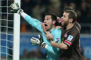 Philipp Tschauner celebrates his goal (Image from Getty)