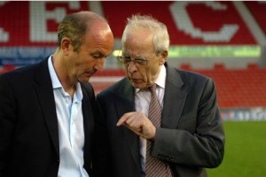 Pulis and Coates discuss the future of Stoke  (Image from Getty)