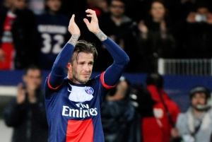 Au Reviour - Beckham bows out in Paris (Image from AFP)