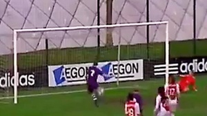 A moment to forget for Beerschot's Nicoletta den Ridder  (Image from YouTube)