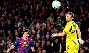 Messi holds the Champions League record scoring five goals in one match  (Image from Reuters)