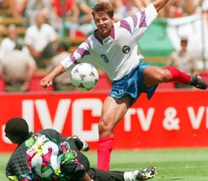 Salenko makes it five against Cameroon  (Image from Getty)