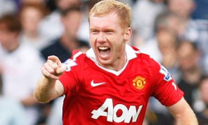 Scholes helped deliver Title to United  (Image from Getty