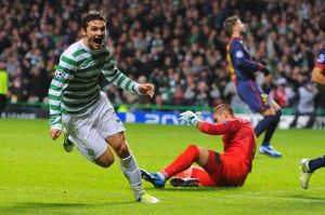 Tony Watt Scores against Barcelona  (Image from PA)