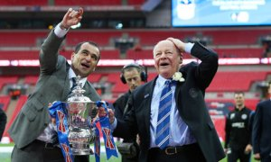 Whelan and Martinez celebrate the FA Cup win  (Image from Getty)