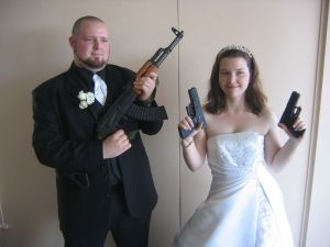 Guns at Weddings - Not a good idea  (Image from stockimages)